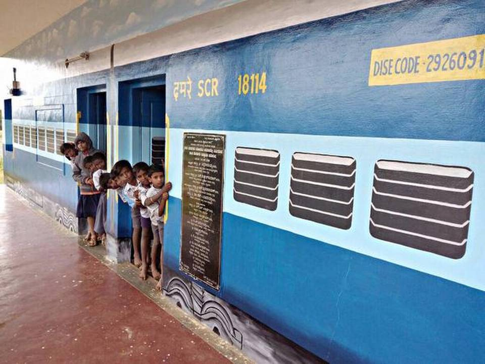 The innovative idea of painting a Govt. school to look like a 'train coach' is truly commendable. It has helped in securing full attendance from students who were irregular to classes & dropping out from the school. https://t.co/gtntmo910m