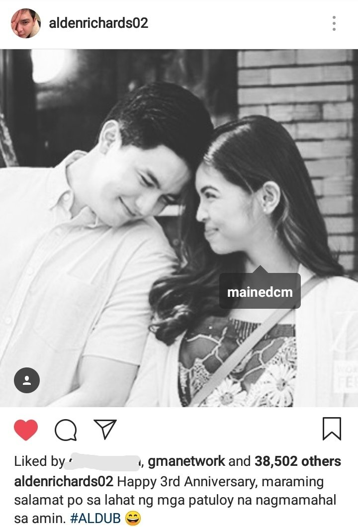 So he really tagged Maine  #ALDUB3Years<br>http://pic.twitter.com/L7OeVUwPJV