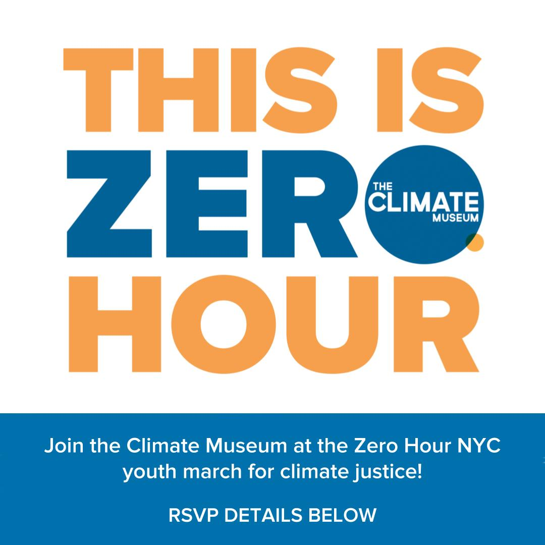 Hey everyone! We missed the #ThisIsZeroHour thunderclap earlier tonight because the weather is getting so weird. But we&#39;re so proud that our Youth Advisory Council will be leading our (large!) contingent at the @zerohournyc sister march on Sat. Join us!  http:// climatemuseum.org/zerohour  &nbsp;  <br>http://pic.twitter.com/g9Me3HDLVB