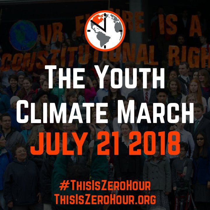 Next Saturday, I'll be marching in DC for the Youth Climate March with @ThisIsZeroHour. We've waited long enough for action on climate change, and I'm proud to follow the leadership of our young people again. I hope you'll join me. #ThisIsZeroHour<br>http://pic.twitter.com/qwXDMyN6lH