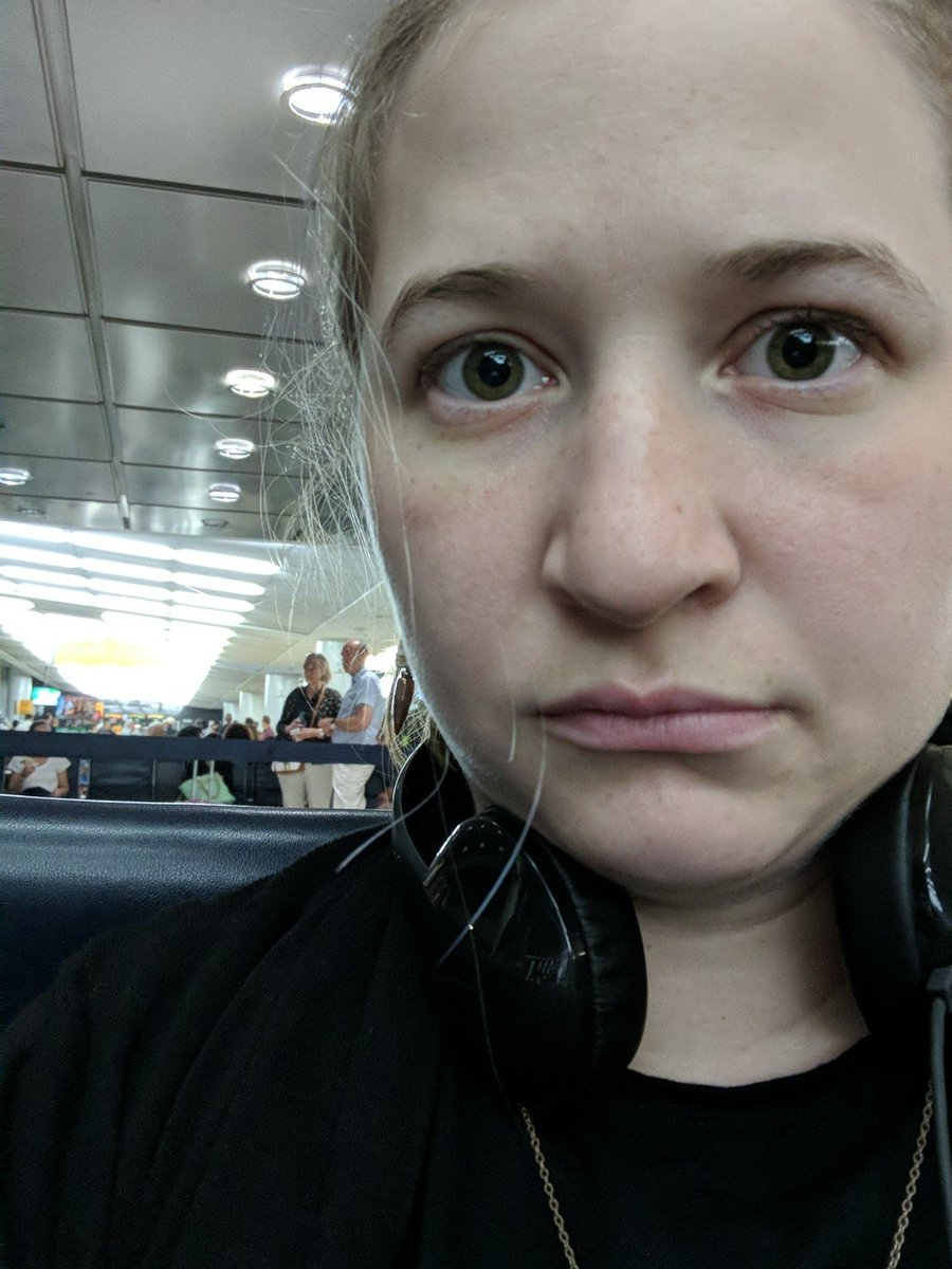 Chilling at the gate, confused how I&#39;m a professional doing professional travel for a professional thing.<br>http://pic.twitter.com/RWBc8ZdqX0