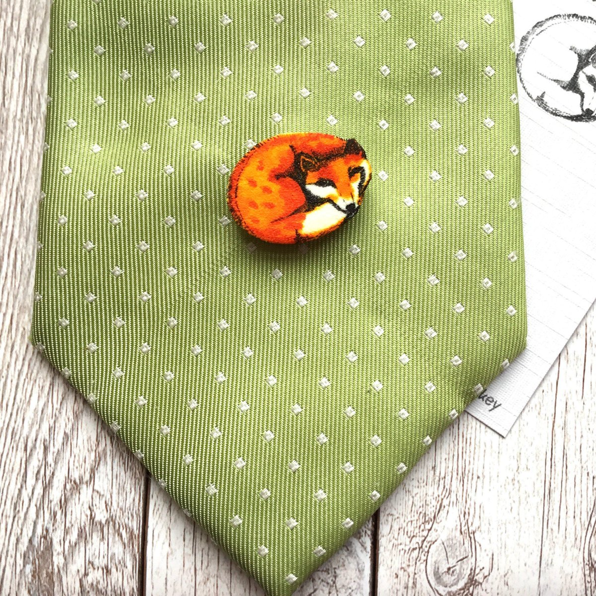 Curled Fox Tie Tack Pin Dad Birthday Gift Husband Anniversary Brother Animal Lover Gifts Thank You Male Teacher