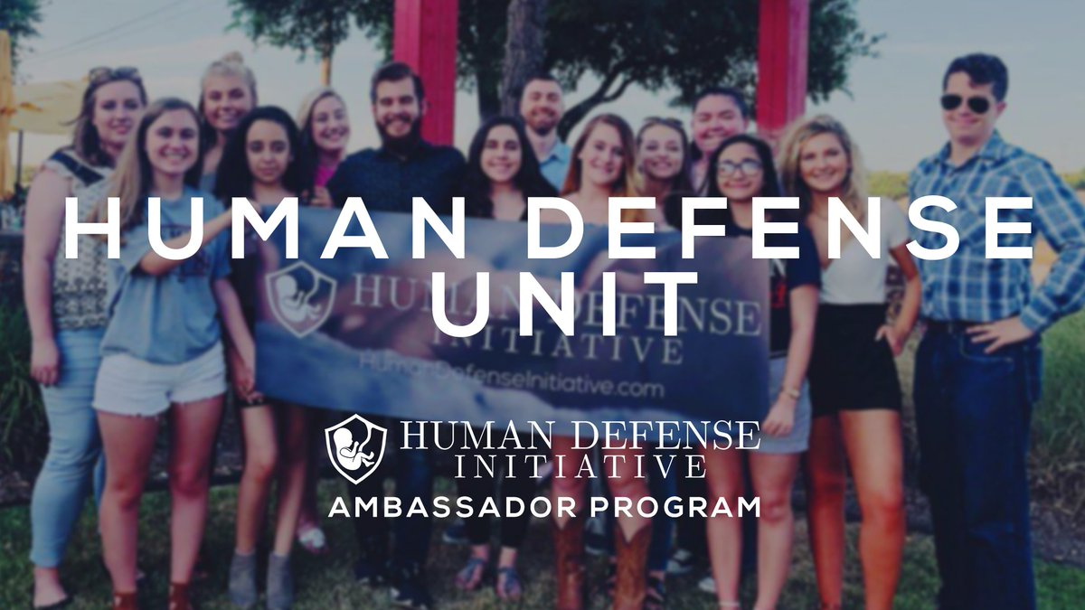 Are you pro-life? Want to be a part of the Human Defense Initiative Team but don&#39;t have writing experience?   Be the digital force behind our movement!   Join the Human Defense Unit, our BRAND NEW Ambassador program!   Apply NOW!  https:// humandefense.com/get-involved/  &nbsp;  <br>http://pic.twitter.com/VirFN1WLnK