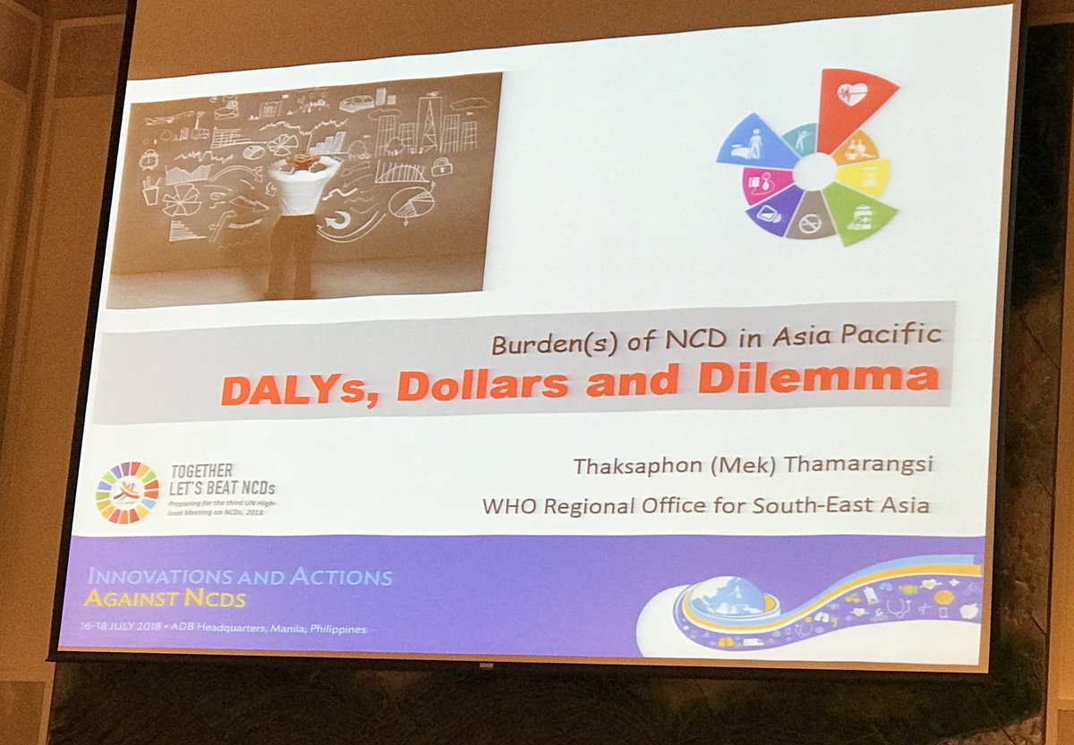 """""""It's already been 26 years since the burden of NCDs surpassed that of infectious diseases globally"""" -Dr Mek from @WHOSEARO.    Investment needs to match that burden.   About time for us to find a new approach.  #supportIAAN<br>http://pic.twitter.com/qpmxje1zbj"""