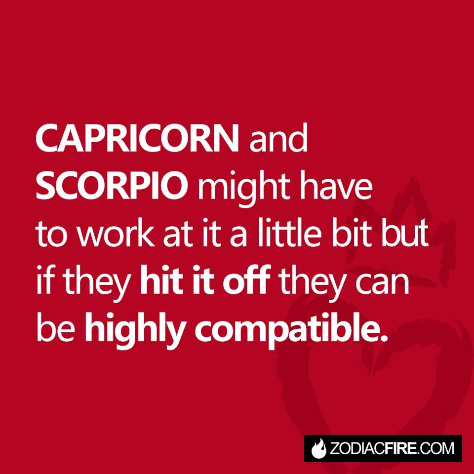 capricorn compatibility with scorpio