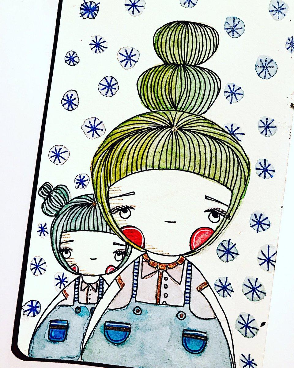 196/365 July 15 Drawing Celebrating Motherhood. #illustration #ilustración #draw #drawing #dibujo #dibujar #pintar #paint #painting #ilovepaper #paper  #sketch #dailyart #dailydrawing #mom #madre #motherhood #mother #maternidad #doodling #motherandchild<br>http://pic.twitter.com/tlRu1dKnX4
