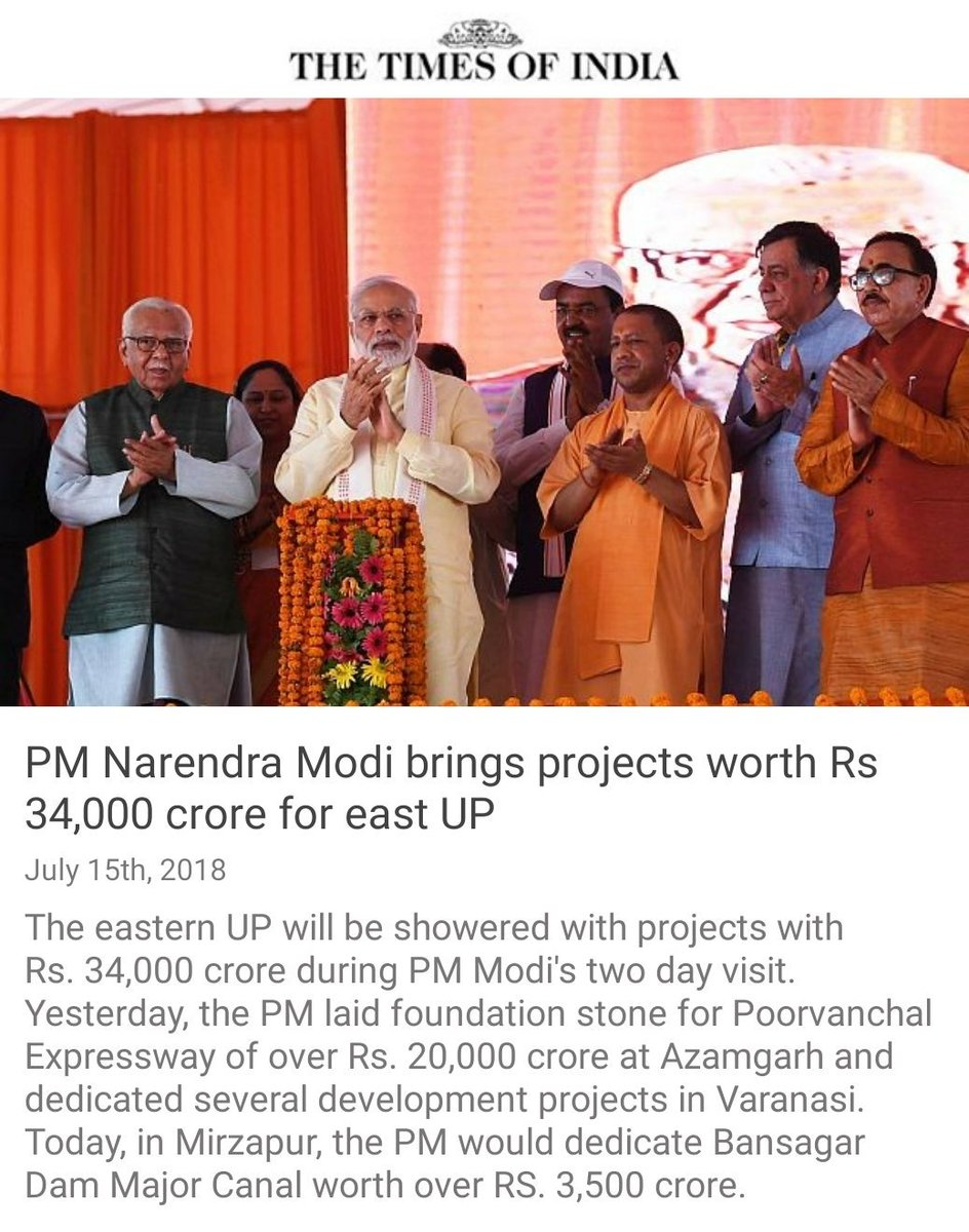 PM @narendramodi brings projects worth Rs 34,000 crore for east UP  https://t.co/ErmZ3pavFA via NaMo App