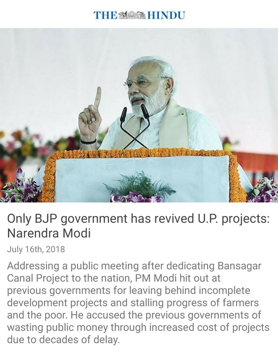 The UP Government has revived incomplete projects.  https://t.co/kD54LStwFa via NaMo App