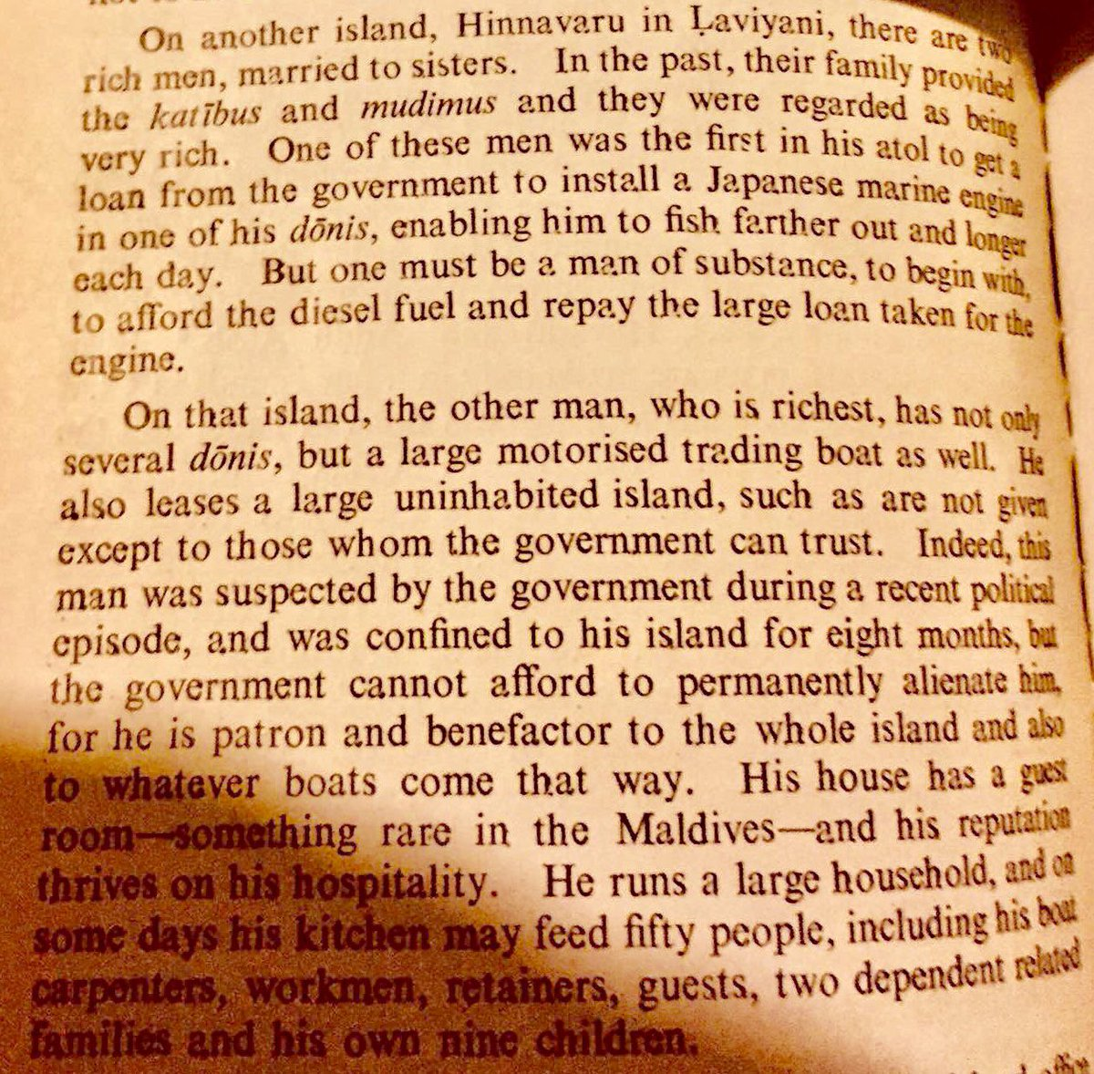 This is how we lived then; sharing and caring, assuming responsibility. This is Clarence Maloney writing, and many people know who he's writing about. There was life beyond Male' and the govt in Male'. @UmarbeygeNijaaru @mahireasa  @SusanIbrahim<br>http://pic.twitter.com/6hVh3MFfmF