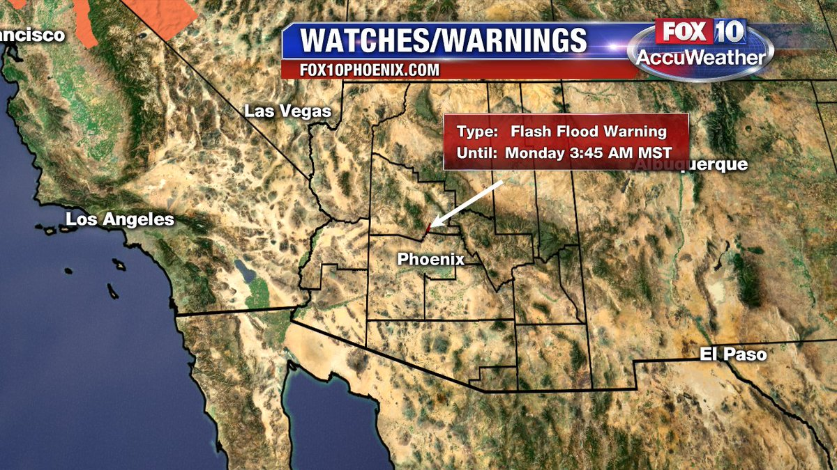 A Watch or Warning has been issued for your area  Please go
