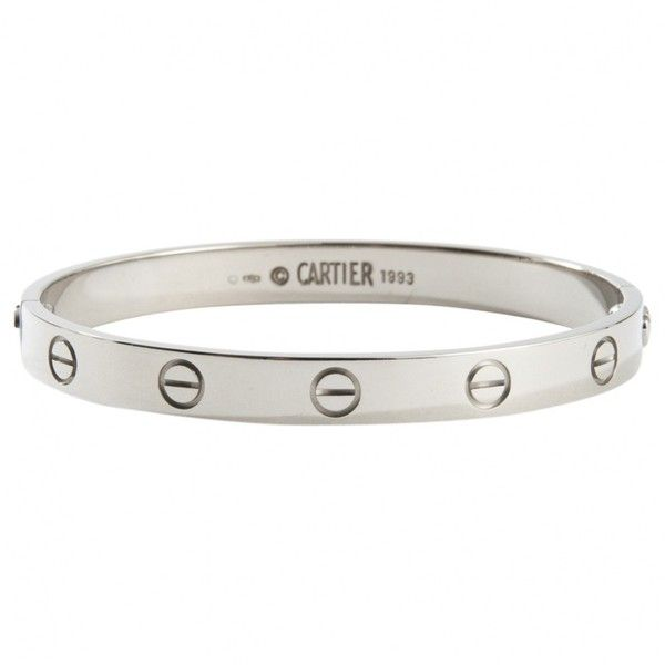 Pre-owned Cartier Love White Gold Bracelet found on Polyvore featuring jewelry, ... #indianwomendress #pakistaniwomendress #womenjackets #womenjeans #womenjewellery #womenjoggers #womenrights #womensuitdesign worldshoppingonline.site/pre-owned-cart…