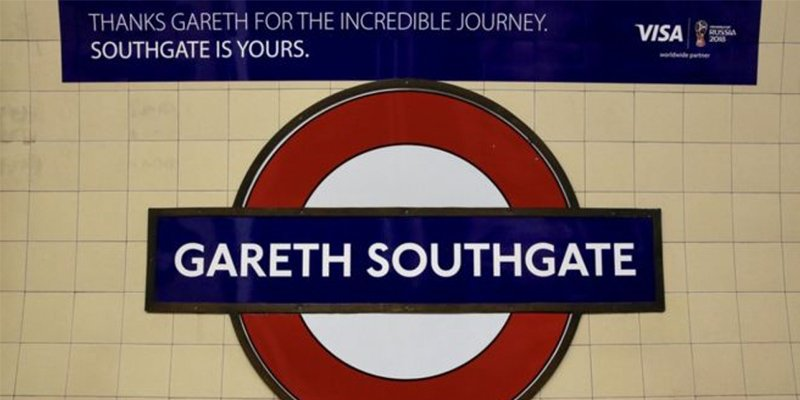 A London Underground station has been temporarily named after Gareth Southgate. 🚇️⚽️  https://t.co/mqYzRezsHe