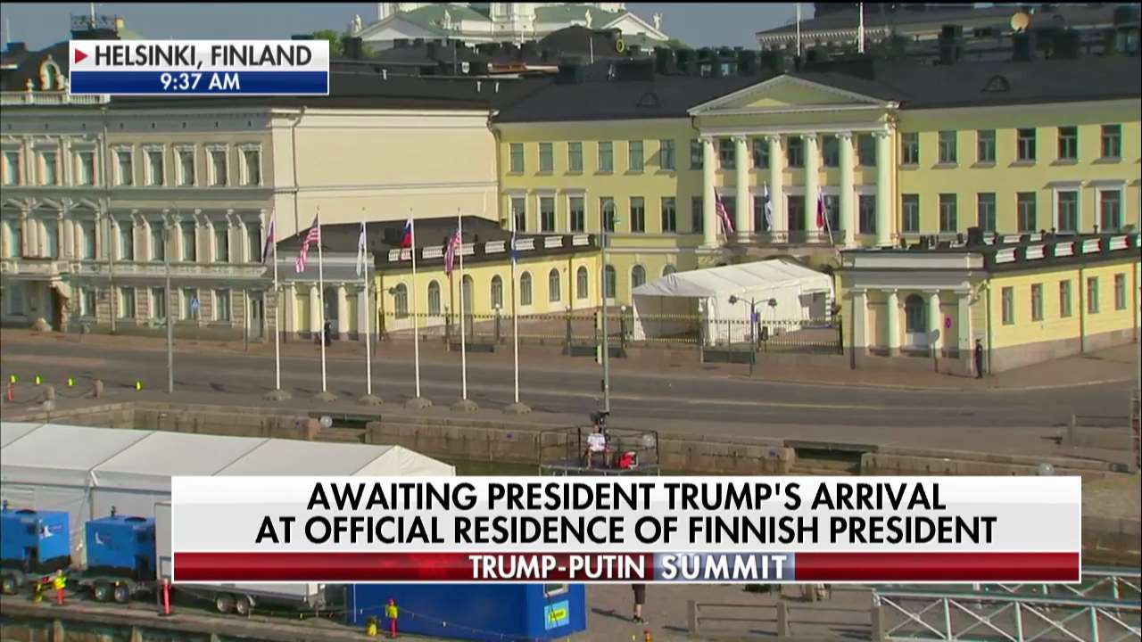 AWAITING: President @realDonaldTrump's arrival at official residence of Finnish president https://t.co/5w0vUhXsO7