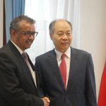 Image for the Tweet beginning: Today @DrTedros is in #China.