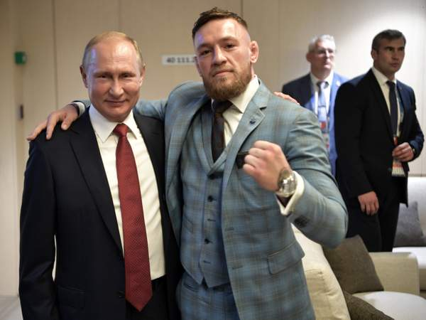 This man is one of the greatest leaders of our time Conor McGregor pictured with Russia president Vladimir Putin at the World Cup final ind.pn/2Nj4wa2