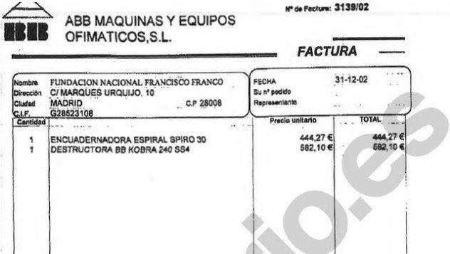 EXCLUSIVA | El gobierno de Aznar subvencionó ordenadores, muebles, extintores y una trituradora de papel a la Fundación Franco https://t.co/KgNrG7ioEg