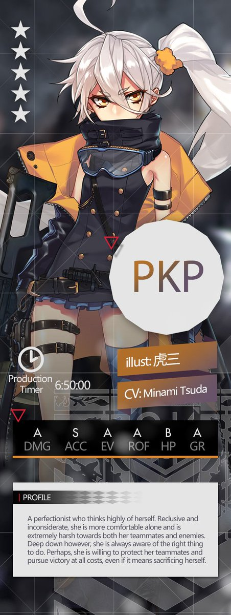 Girls Frontline En Official On Twitter Dear Commanders After The Maint July 17th 5 Star Ar T Doll Gr G11 And Mg Pkp Will Be