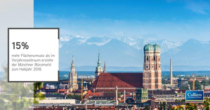 Münchner Büromarkt brummt<br><br>Mit 477.100 m² Flächenumsatz liegt der Büromarkt in #München zum Halbjahr auf Rekordkurs. Alle Infos auf einen Blick liefert unsere #Infographic: <br>Die ausführliche Einordnung der Zahlen erhalten Sie hier: t.co/FLOLFPx6qH t.co/QvCgNAfK27