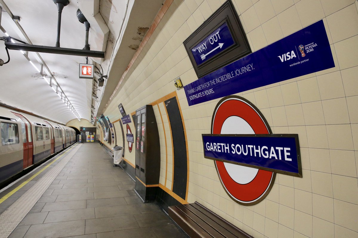 London Underground station named after England manager Gareth Southgate #WorldCup2018  https://t.co/UXh2aP3tPW