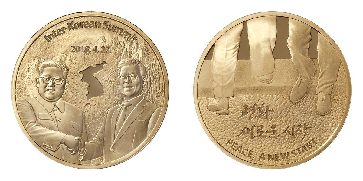 # KOMSCO 소식  [#한반도 #평화기념메달 출시]  한반도의 #평화 와 #남북정상회담·북미정상회담을 기념하는 공식 기념메달이 나왔습니다.