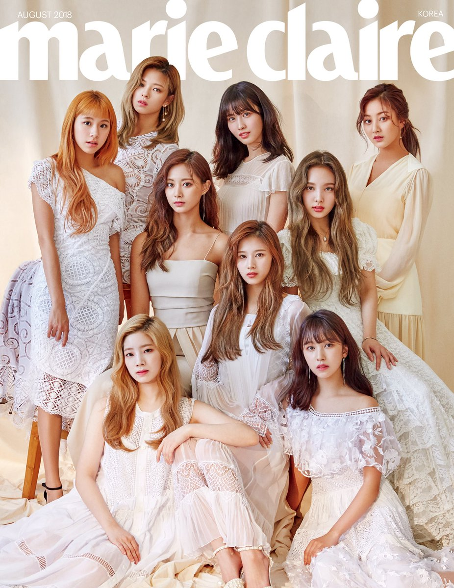 twice on twitter twice x marie claire august 2018 cover twice 트
