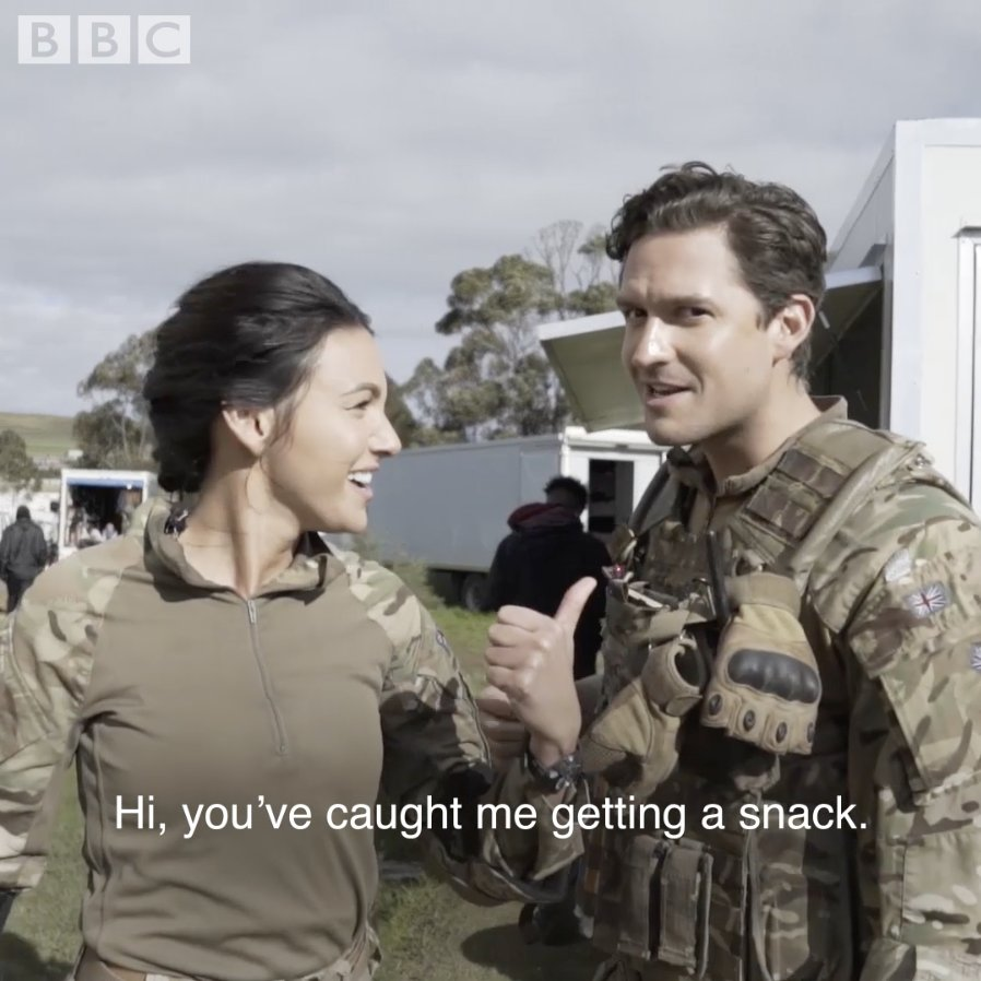 .@michkeegan takes us for a spin around the #OurGirl set. https://t.co/nov7yKk87K