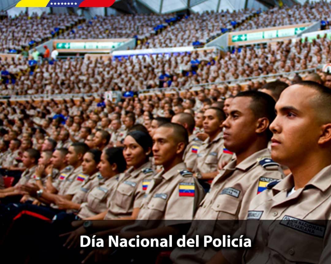 En el Día Nacional del Policía felicito a todos los funcionarios y funcionarias que resguardan la seguridad y la tranquilidad del pueblo con ética, moral y compromiso. Sigamos fortaleciendo los Cuadrantes de Paz a través de la Gran Misión Justicia Socialista, esa es la gran tarea https://t.co/h3G9B5FUhm