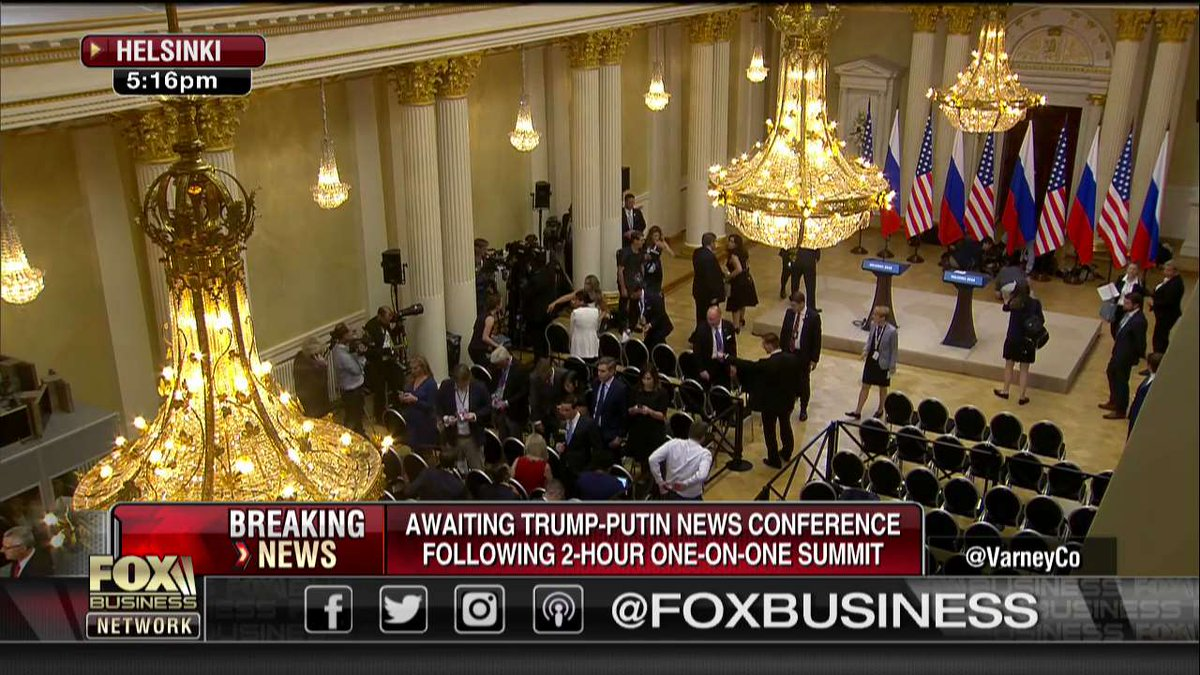 AWAITING: @POTUS and Russian President Putin to deliver news conference following two-hour one-on-one summit