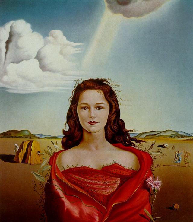 #MondoDiVersi/Breton  @artdielle  Je vous souhaite d&#39;être   follement aimée  L&#39;AMOUR FOU  #SURREALISM  Portrait of Mrs. Mary Sigall 1948 by Salvador Dali <br>http://pic.twitter.com/yyXKWunIta