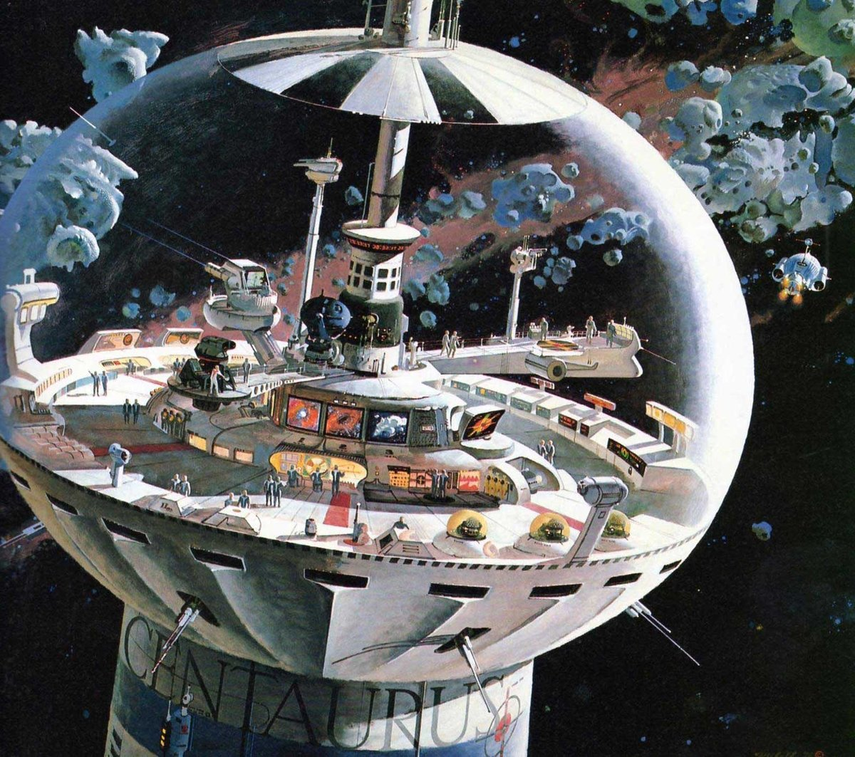 Robert McCall concept art for Disney's THE BLACK HOLE, 1979. #scifi