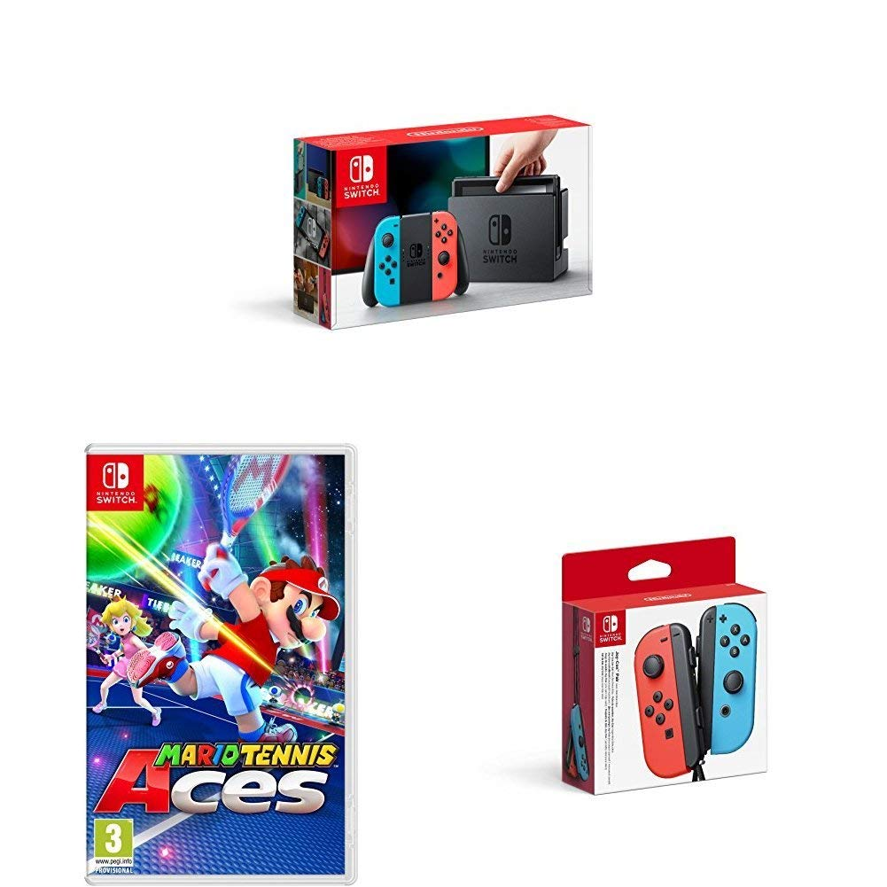 584bc252083df4 ... with extra Joy-Con and Mario Tennis Aces  https   amzn.to 2uAZ76f Will  sell out in minutes