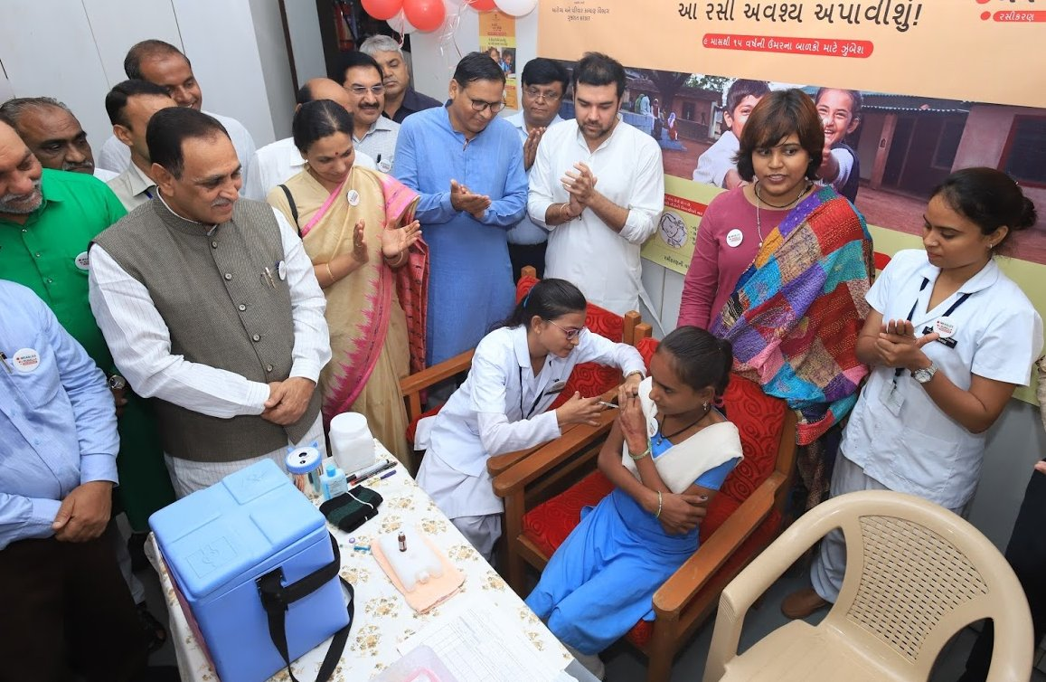 Gujarat govt launches Measles-Rubella vaccination drive
