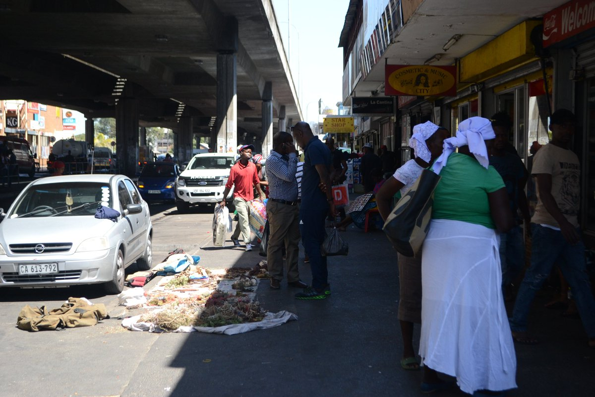 The streets of Bellville CBD used by a variety of users