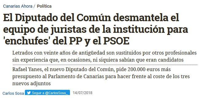💰Enchufismo y despilfarro. Instituciones al servicio de sus partidos👇 El juego de siempre de CC-PSOE-PP.