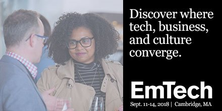This September, our award-winning journalism will come to life on the EmTech stage. Hear from experts on the future of computing, blockchain, AI, and more. Purchase your ticket today. https://t.co/CVsNNmYgGI