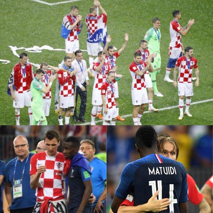 Bravo à la Croatie qui a fait un parcours remarquable et remarqué ! Votre peuple peut être fier de vous! Une pensée à mon ami @MarioMandzukic9 et félicitations à @lukamodric10 pour sa distinction 👍🏽 #FRACRO #fiersdetrebleus 🇫🇷 🔵⚪🔴 Foto