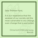 Over 260 ministry leaders from the United Church of Canada have come together to congratulate Premier Doug Ford and outline our hopes and concerns for the new provincial government. Read our letter by clicking the link below. https://t.co/CNSxqB9i75