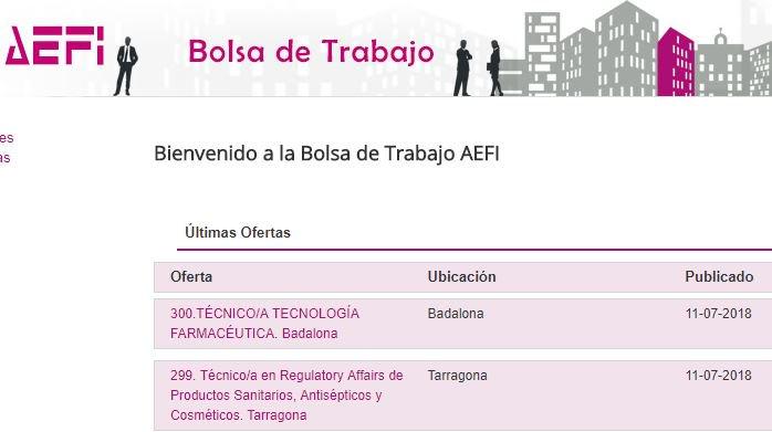 Aefi On Twitter Dos Nuevas Ofertas De Empleo En Nuestra Bolsa De