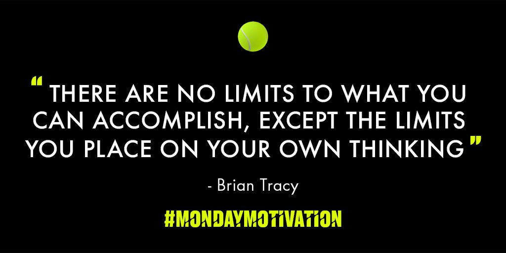 What goals have you set for yourself to accomplish this week? #MondayMotivation #TieBreakTens #Tennis