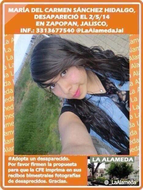 #TeBuscamos Maria del Carmen Sanchez Hidalgo. Zapopan, Jalisco. #Jalisco Photo
