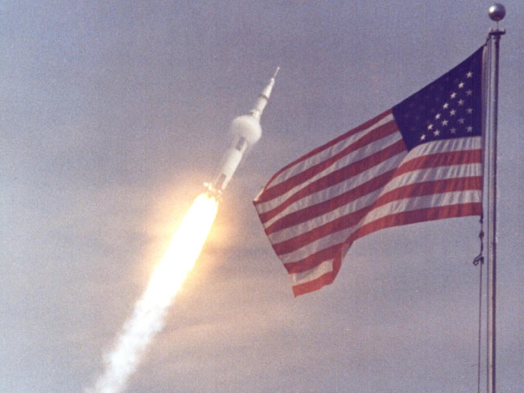 16 July 1969. Apollo 11 launched from the Kennedy Space Centre at Cape Canaveral, Florida. <br>http://pic.twitter.com/g9xH9U8nNH