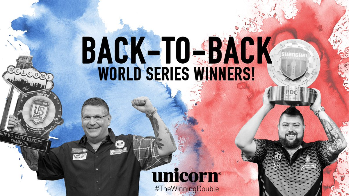 🎯 Winning with Unicorn 🎯 #TeamUnicorn are back-to-back winners in the @OfficialPDC World Series events @GaryAnderson180 - Las Vegas 🏆 @BullyBoy180 - Shanghai 🏆 #TheWinningDouble