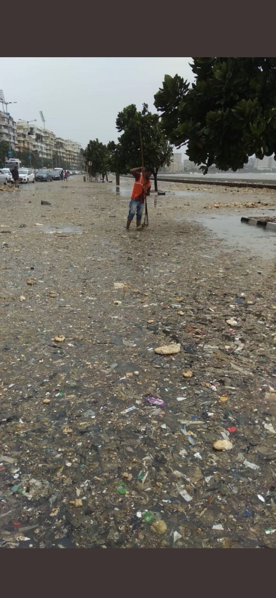 What you give is what you get back ! As much as 12 tonnes of garbage was washed back on marine drive recently after the intense high-tide in Mumbai. High time we stop polluting our water bodies. It's time we change