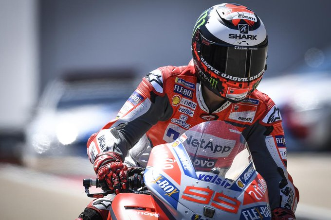 """""""We made a mistake on the settings"""" - @lorenzo99 The Spaniard finished P6 at the Sachsenring after leading in the opening stages, but his drop in pace wasn't due to his soft front #MotoGP 