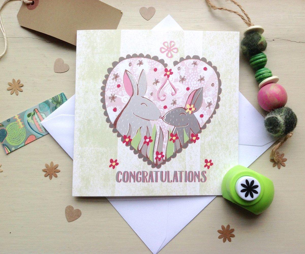 Slumbermonkey Design On Twitter Congratulations Card Rabbit
