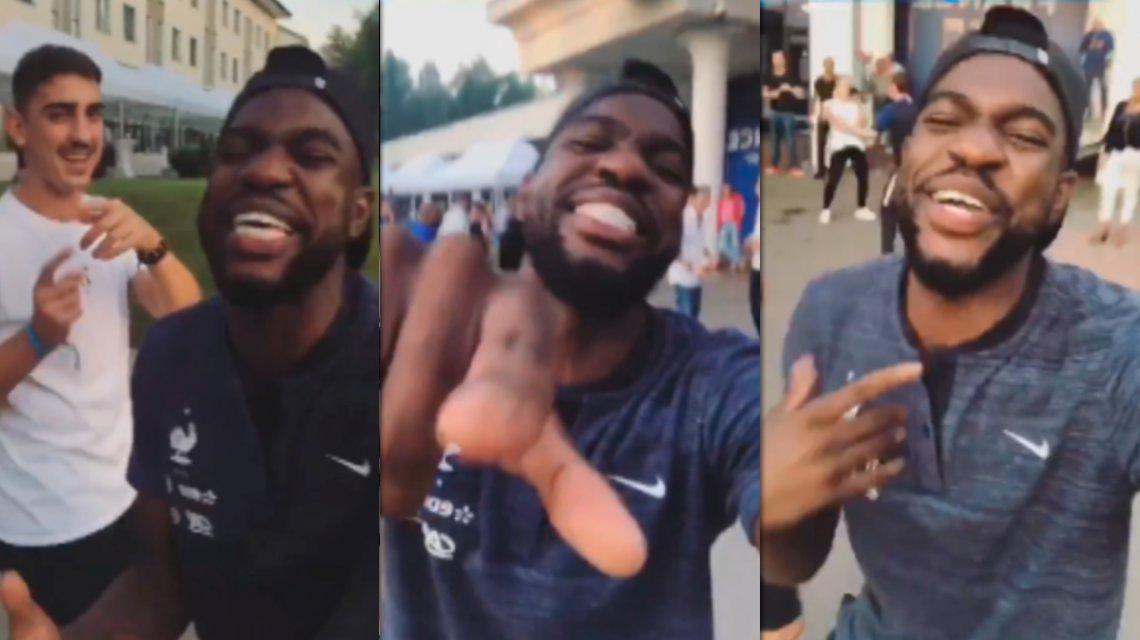 Umtiti festejó el título de #Fra al ritmo de @Marama_Oficial y se hizo viral http://jornadaonline.com/tw/194311