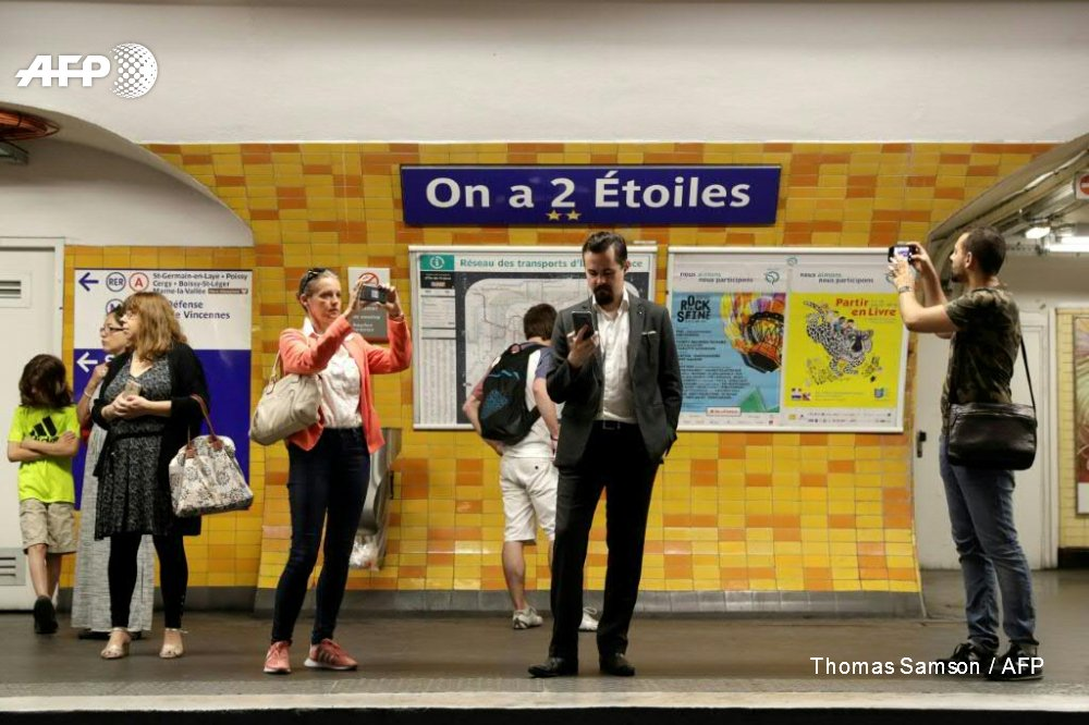 Afp News Agency On Twitter Six Paris Metro Stations