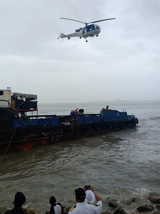 Coast-guard starts 'de-fueling' operation of M V Henry which has drifted from Porbandar harbour