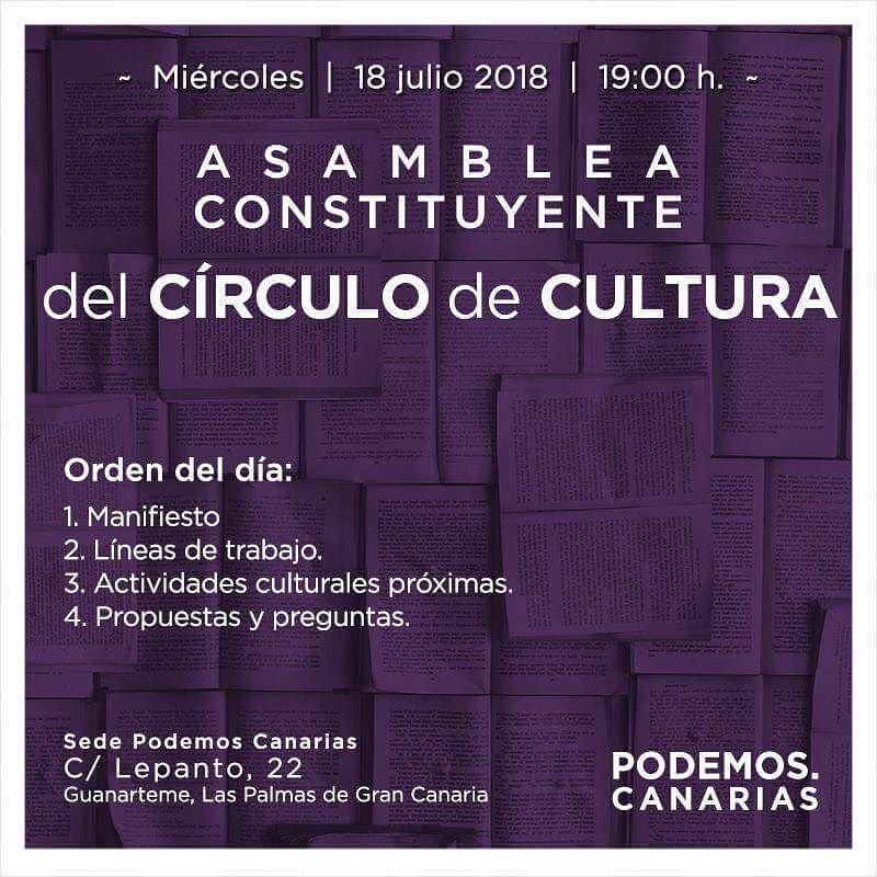 Arranca nuestro primer círculo de cultura en Las Palmas👇 🎨 No hay ética sin estética.