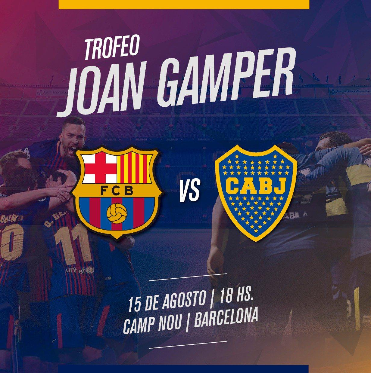 ... a la disputa del trofeo de preparación para la temporada en Europa. La  última vez que el cuadro argentino disputó el Trofeo Joan Gamper fue en  2008 d7c76644301